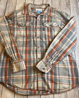 Columbia Mens Shirt Multicolored Size L Plaid Button Down