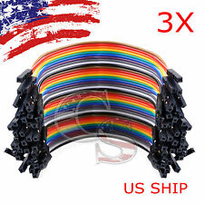 3X 40pcs 10cm Female To Female Dupont Wire Jumper Cable for Arduino Breadboard