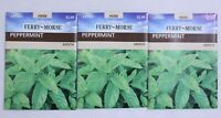 Peppermint, Ferry-Morse 3 Packs Herb Plant Seeds