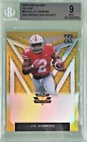 JK Dobbins 2020 Leaf Valiant Yellow Pre-Production Proof RC Rookie 1/1 BGS 9