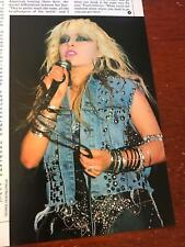 1988 Vintage 1Pg Print Article/Photo Of The Sexy Doro Pesch Of The Band Warlock