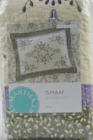 Martha Stewart Collection VALENCIA EYELET Standard Quilted Pillow Sham Floral