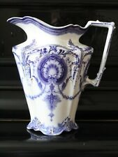J & G Meakin Perola (Blue and White) Large Water Pitcher c. 1912