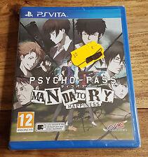 PSYCHO-PASS MANDATORY HAPPINESS Jeu Sony Playstation PS VITA Neuf Blister VF