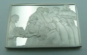925 Solid Silver Ingot - 'The Royal Maundy Service at York Minster' - 1972