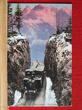 Farbkarte - Brünigbahn - ca 1910 - Eisenbahn auf der Passhöhe