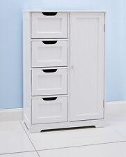White Wooden Cabinet.4 drawers & Cupboard. Bathroom or Bedroom