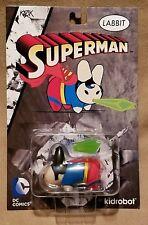 "DC COMICS KIDROBOT SUPERMAN LABBIT 2.5"" KOZIK VINYL FIGURE BRAND NEW"