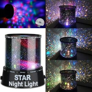 LED Starry Night Projector Light Star Crystal Stage Lamp Dreamy Xmas Gifts