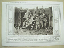 A PAGE WW1 ILLUSTRATED WAR NEWS 1915 OFFICERS WEARING MACKINTOSHES RUBBER BOOTS