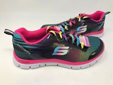 NEW! Skechers Youth Girl's Britespeed Shoes Black/Multi #81839L 175T az