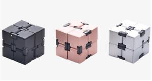 Infinity Cube Fidget Metal Cube Toy for Adults Kids, New Version Fidget Finger