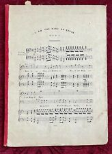 Duet, Surely As Thou Art Don Caesar Yes I Am King Of Spain - Sheet Music Antique