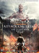 Live Action DVD Attack on Titan Movie Part 1 and 2 Complete Japan Box Set