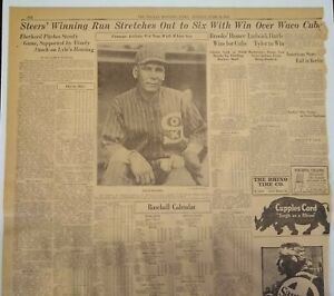1925 Dallas Newspaper Sports Page - Chief Bender Chicago White Sox Pitcher Photo