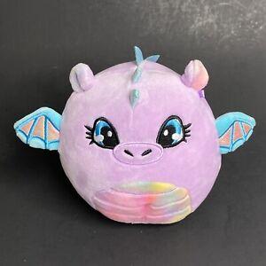 "Kellytoy Squishmallows Devra Dragon Plush 5"" Purple Claire's Exclusive"