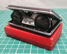 Vintage Pal-F Folding Opera glasses Pocket Compact Black Binoculars Japan boxed