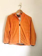 MINI BODEN Orange + Blue Striped Lining Hooded Jacket Coat 9 - 10 yrs Summer