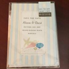 NEW Mainio Save the Date Wedding Party Magnet Cards Beach Seashells 10 count NEW