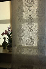 "Scottish Cream Cotton Lace Curtain Panelling Yardage 44""Portia Period design"