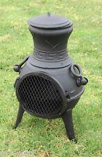 Solid Cast Iron Chimenea Patio Heater Garden Heater Multi Fuel Chimenea Fire Pit