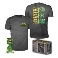 Jurassic Park POP! & Tee Box Clever Raptor XL Size POP Vinyl & T-Shirt Set