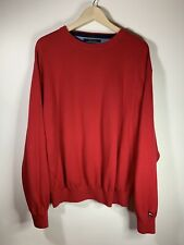 Tommy Hilfiger Golf Knit Sweater Pullover Sweater Red L