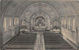 H66/ Brockway Minnesota Postcard c1919 Interior St Stephens Church 98