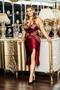 Women Plus Size Satin & Lace Nightdress  Chemise  Babydoll  16-18-20   European