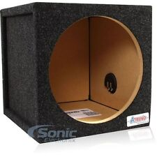 "Atrend 12SQL 1 Cu. Ft. 12"" Single Pro Series Sealed Subwoofer Enclosure Bass Box"
