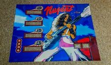 STERN NUGENT Pinball Machine Translite Backglass