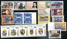 ECUADOR - EMELEC SOCCER, 18 DIFFERENT MODERN STAMPS LOT+ PAIR IMPERFORATE, MNH