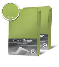 2er Pack Spannbettlaken Bettlaken grün 90x200 cm - 100x200 cm Jersey Baumwolle