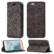 iPhone 5S/5 Bling Glitter Diamond Shiny Flip Book Cover Stand Wallet Case