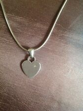 Sterling silver hot diamond heart tag necklace