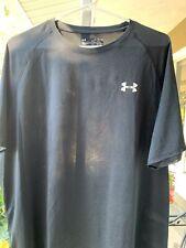 Black Under Armor Loose fit Heat gear Men's Xl Short Sleeve T Shirt