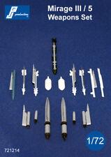 PJ Productions 1/72 Dassault Mirage III/5 Weapons Set # 721214
