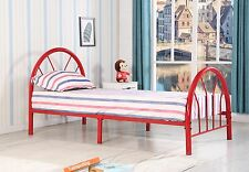 Blanca Twin Size Red Metal Bed