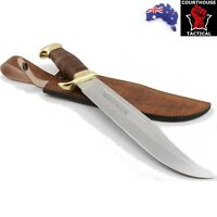 Handmade Bowie Knife, Stainless Steel Blade, Leather & Brass Handle NEGOTIATOR