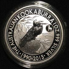 *2015 Australia 1 oz Silver 999 Kookaburra BU (Goat Privy Mark) Mintage 50k*