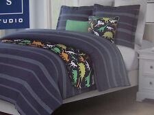 Max Studio Kids 5 Piece Comforter & Quilt Set-Dinosaurs- 2 Pillows-TWIN -New