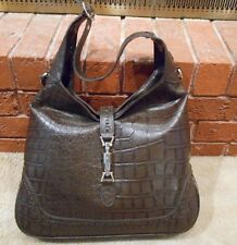 FASHION PURSE BROWN WESTERN SHOULDER BAG GATOR PRINT COWGIRL ASSCSSORIES