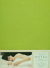 """SUPER EXTRA LARGE Lenzuolo Verde Lime 10 """"Deep 400 Thread Count 100% Cotone Lusso"""