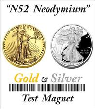 GOLD & SILVER TEST MAGNETS N52 Grade Recovery For Scraps & Jewelry (2 Pack Kit)
