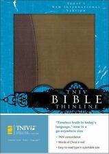 TNIV Thinline Bible: Burgundy/Pecan European Leather Today's New International