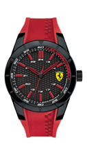 Official Scuderia Ferrari Men's 830299 RedRev Red Silicone Strap Watch NEW £279