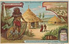 """Afrique Anglaise"" Liebig Beef Bouillon Advertising Trade Card Late 1800's"