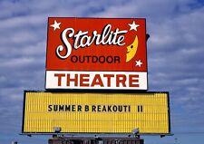 Star-Lite Drive-In Movie Theater Sign Minot North Dakota 5x7 Color B&W Photo