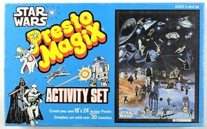 S801. Vintage: STAR WARS Presto Magix Activity Set BOX ONLY (1982) R2D2 Box Art