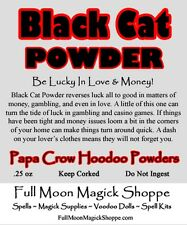 Black Cat Powder Voodoo Hoodoo Luck In Money Love Spell Material Ritual Dust